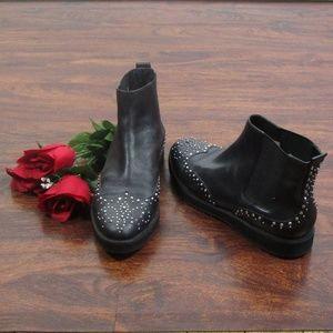 MICHAEL Michael Kors Black Leather Studded Boots